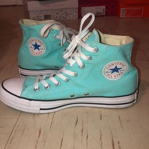 Converse high tops. Turquoise